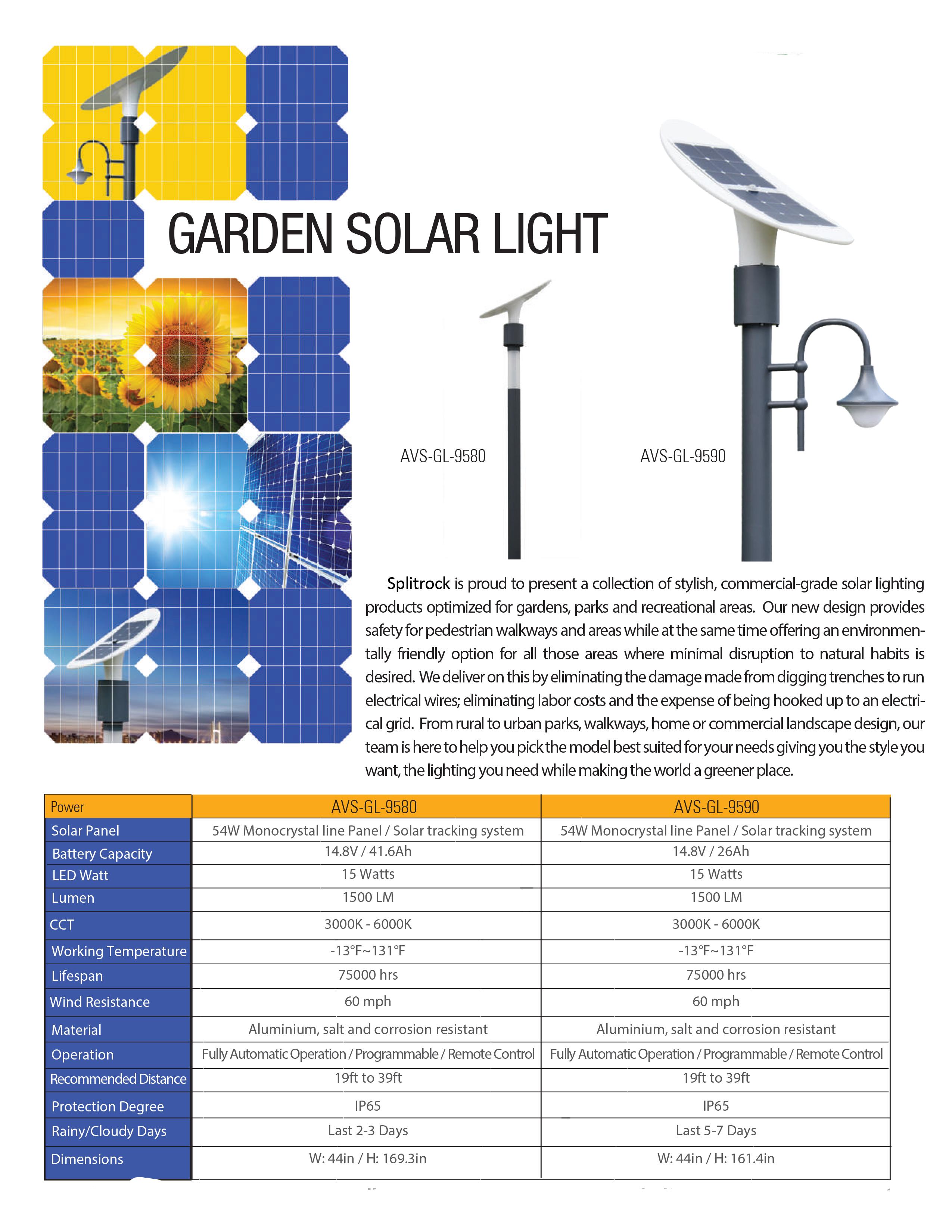 LED pedestrian lighting - SplitRock Solar